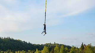 Bungee Jumping in Sigulda - Gauja National Park
