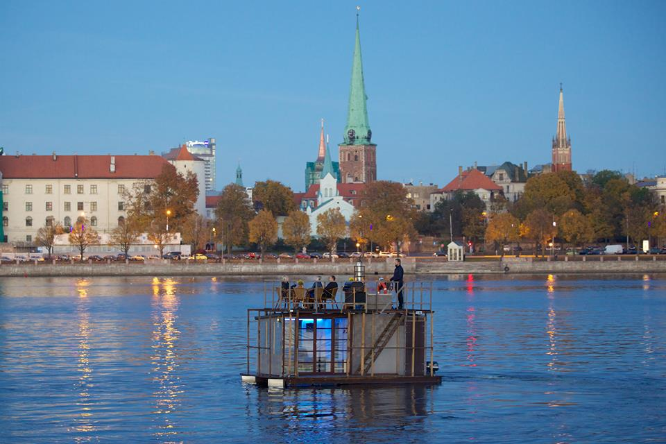 Floating Sauna in the Center of Riga